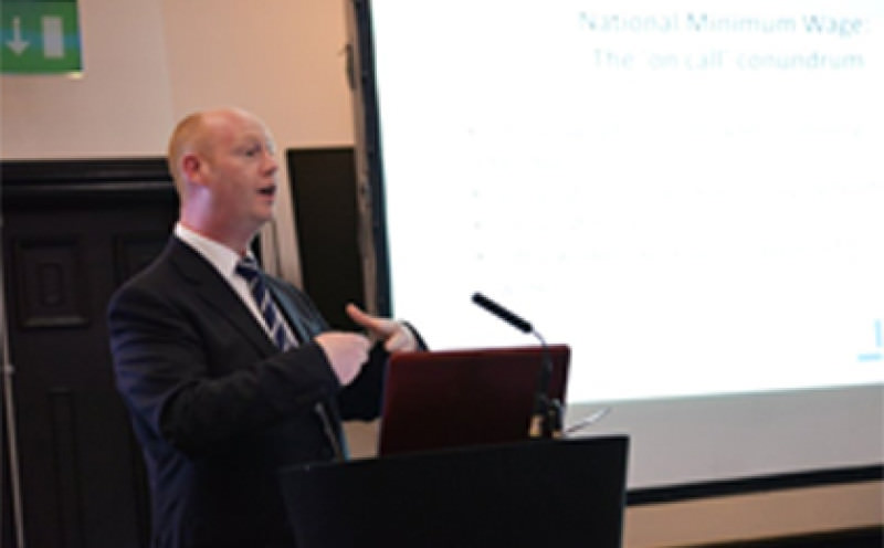 Darren Tibble speaks at Payroll World Conference