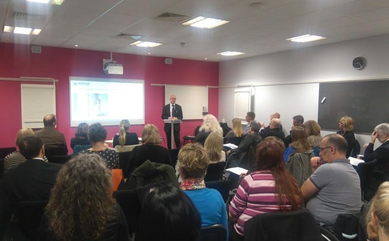 Laurence Dunn speaks at the Mental Wellbeing Breakfast