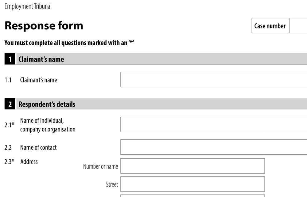 ET3 Response Form